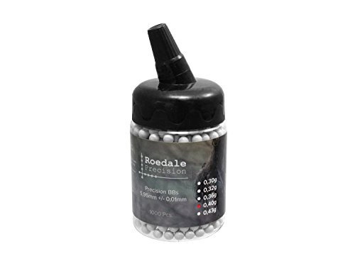 1.000 ROEDALE PRECISION Softair / Airsoft BBs 6mm 0,40g in Flasche - hell -