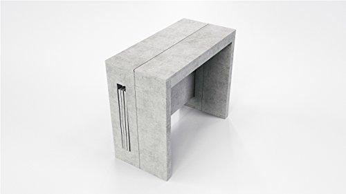 Tavolo a consolle mod. extend termostrutturato finitura effetto cemento lungh. cm.90 prof.44 h.75 cm. la consolle prevede la possibilità di inserire fino a tre prolunghe raggiungendo una misura di cm.186