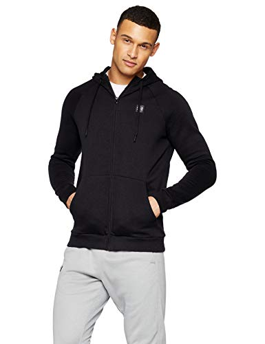 Under Armour Herren RIVAL FLEECE FZ HOODIE Oberteil, Black, S Under Armour-fleece-sweatshirt