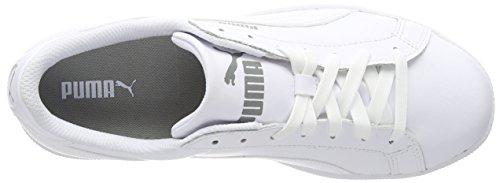 Puma Smash Leather, Baskets Basses Mixte Adulte Blanc (White)