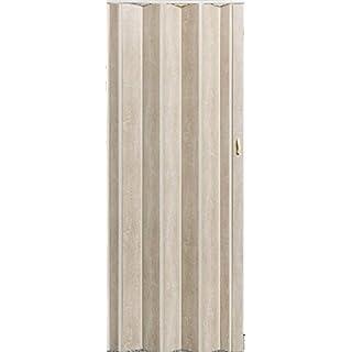 Falttür Schiebetür Tür Sonoma Eiche hell farben Höhe 202 cm Einbaubreite bis 96 cm Doppelwandprofil Neu TOP-Qualität