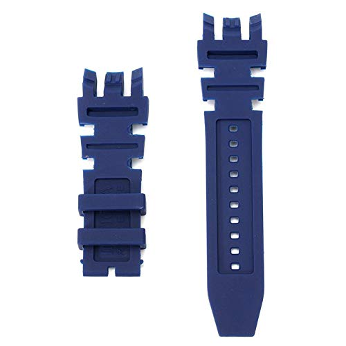 ROUHO Ersatz Silikon Rubber Watch Band Für Invicta Subaqua Reserve Analog-Blue - Invicta Watch Bands Silikon