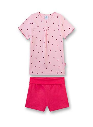 Sanetta Baby-Mädchen Schlafanzug kurz Bekleidungsset, Rosa (Pink Rose 38080), 98 (Herstellergröße: 098) - Rosa Kurzer Schlafanzug