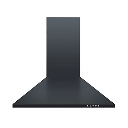 Cookology CH600BK 60cm Chimney Cooker Hood in Black | Unbranded Kitchen Extractor Fan