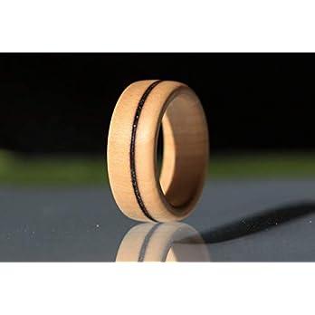 Handgemachter Ring aus Holz – Schmuck – Holzring aus Apfelholz