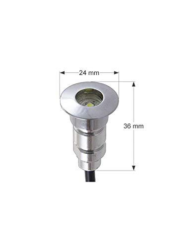 Kit Mini Spot LED Encastrable Rond RGB Multicolore 0,8W SP-E02-RGB - 26 spots LED - RadioFréquence