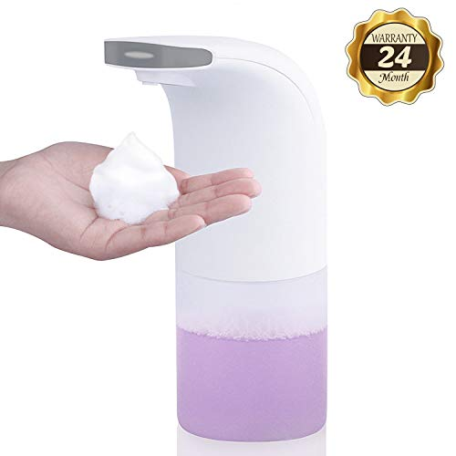 YONTEX Dispensador Automático de Jabón, Dispensador de emulsión con Sensor de Infrarrojos sin Contacto a Prueba de Agua de 350 ml para el baño, la Cocina y los aseos
