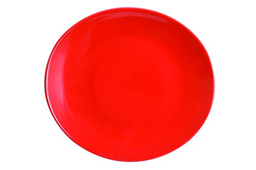 Novastyl 5863004 Ibiza Lot de 6 Assiettes à Steak Faïence Rouge 28,5 x 26,5 x 3,8 cm