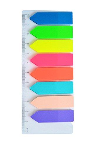 Film-Pagemarker Haftmarker - 200 Blatt (8 x 25 Blatt) zum Beschriften / Markieren