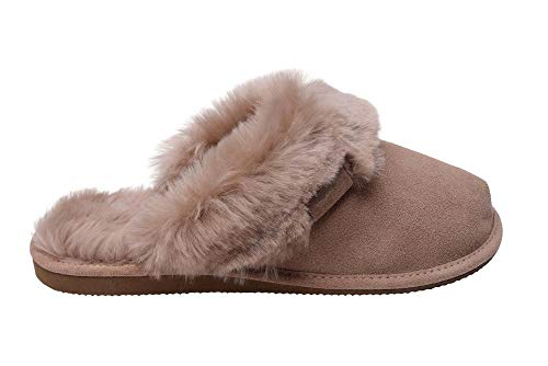 Vogar pantofole scamosciate da donna in lana di pecora w74