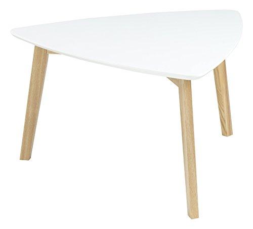 AC Design Furniture Mette 60353 Table Basse avec Dessus en Bois, laqué Blanc