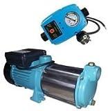 INOX Profi Gartenpumpe Kreiselpumpe 2200 Watt 230V Fördermenge: 170 l/min 10200 l/h, - 5 Laufräder 5,8 bar - robuste und rostfreie Edelstahlwelle + integrierter thermischer Motorschutzschalter.