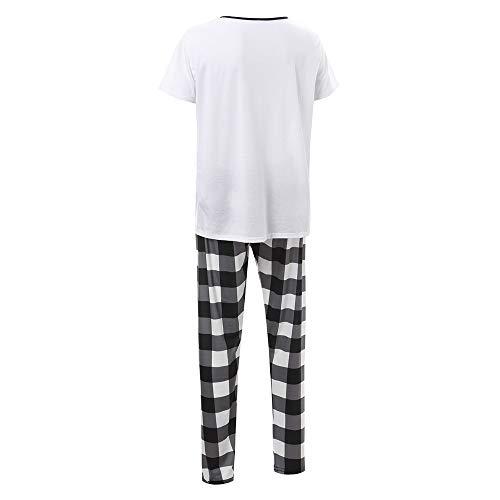 Hunpta@ Halloween Kleidung Kinder Brief Cartoon Tops+ Hosen Familie Kleidung Pyjamas Set Pyjama Set Frauen Kind Dad Erwachsene Nachtwäsche Langarm Streifen Schlafanzug Sleepwear