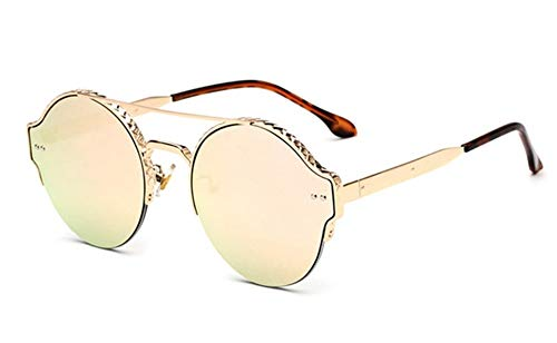Sonnenbrille, Vintage Frauen Männer Metall Rund Die Hälfte Frauen Cat Eye Frame Sonnenbrillen Sonnenbrillen Sonnenbrillen Für Damen Sonnenbrillen Gold