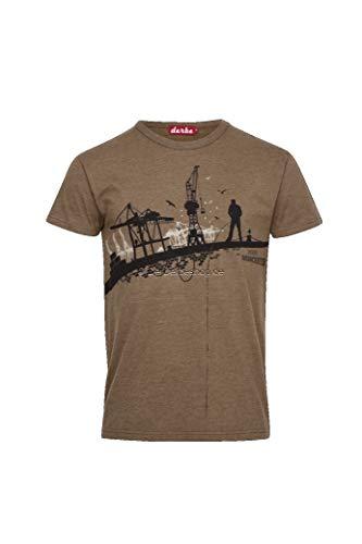 derbe T-Shirt Hafenschiffer 18 Chipmunk Melange Größe XXL