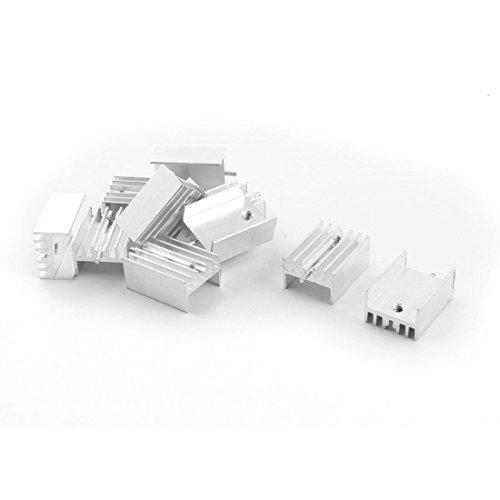 Sourcingmap a14082200ux0155 - Pcb dissipatore bordo 15x10x20mm alluminio di raffreddamento pinna 10 pz ago