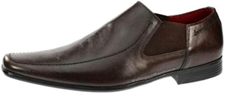 Red Tape Hombre Heddon Cuero Auténtico Zapatos con Fuelle y Puntiagudo 7-12