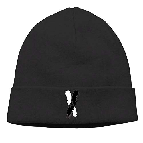 (Zcfhike Jake Paul Schwarz Weiß X Logo Unisex Cuffed Plain Skull Beanie Knit Watch Hut/Mütze Fashion29)