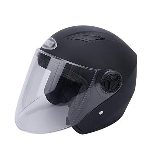 Goolife Casco Moto Crash Modular High Safety - Casco Integrale Da Motociclista Con Visiera Parasole Per Uomini Adulti,Black