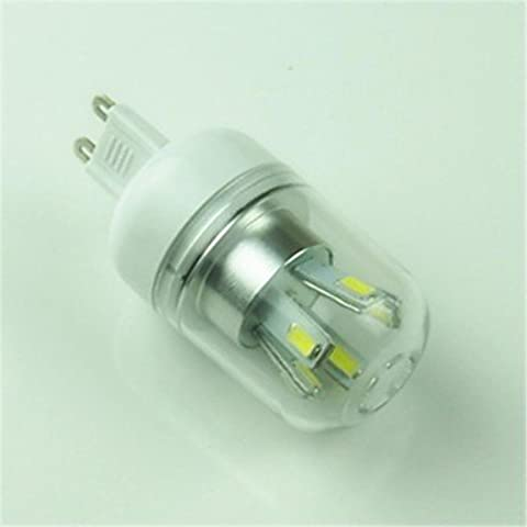 YangR* G9 5W 10x5730SMD 400LM 6000-6500K LED bianco freddo (mais