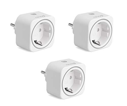 Revogi SmartPlug - prise intelligentes 16 A Bluetooth pilotable programmable Connectée interrupteur sans fil compteur programmateur contrôle par Smartphone Android Iphone lot de 3 prises SH-SPB012*3