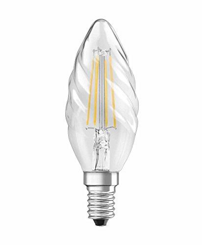 Osram LED Star Classic BW Lampe, in Kerzenform mit E14-Sockel, nicht dimmbar, Ersetzt 40 Watt, Filamentstil Klar, Warmweiß - 2700 Kelvin, 1er-Pack -