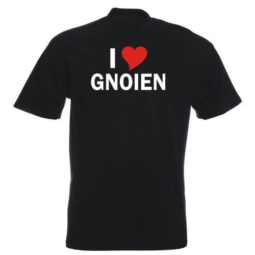 T-Shirt mit Städtenamen - i Love Gnoien - Herren - unisex Schwarz
