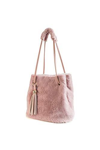 Howoo Damen Winter Kunstpelz Schultertasche Plüsch Handtasche Flauschige Beuteltasche Quaste Umhängetasche Rosa - Plüsch-schals