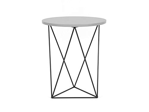 Delamaison Table d'appoint Design en Bois et Pieds métal Triangle Filaire