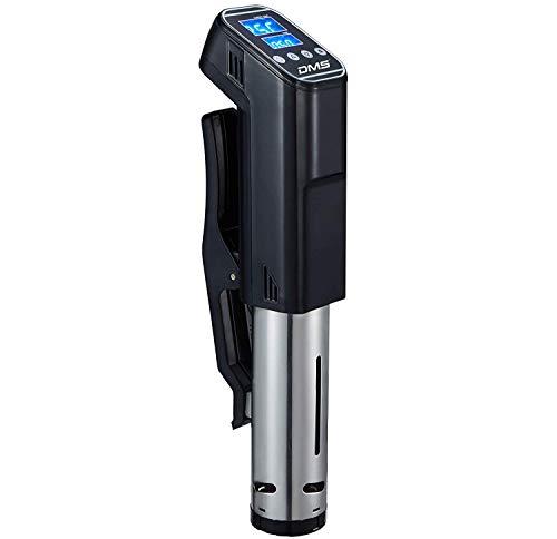 DMS Sous Vide Stick Garer Vakuumgarer Slow Cooker mit Thermostat | Präzisionskochtopf | Umwälzpumpe | Schongarer aus Edelstahl mit 1300 Watt Leistung und LED- Display SVG-1300B