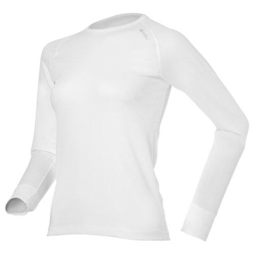 Odlo manches longues et col rond pour femme Cubic Blanc - Blanc