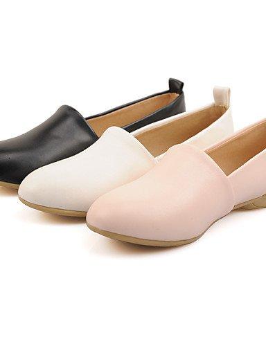 ZQ gyht Scarpe Donna-Ballerine-Casual-Punta arrotondata-Piatto-Finta pelle-Nero / Rosa / Bianco , pink-us8 / eu39 / uk6 / cn39 , pink-us8 / eu39 / uk6 / cn39 white-us6.5-7 / eu37 / uk4.5-5 / cn37