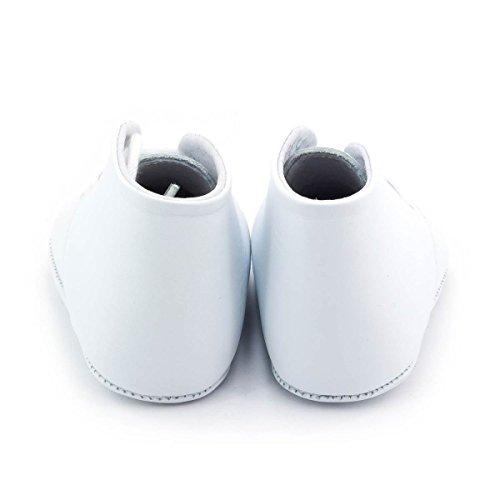 Boni Charles - chausson cuir souple lacet Blanc