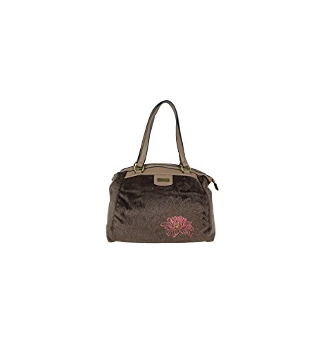Sac Shopping Smash Marron DELFIN Simili Cuir et Fausse Fourrure DELFIN BROWN