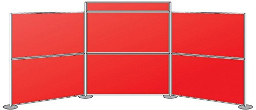 Metroplan 1800 x 5400 mm MightyBoard Display System with 6 Panels - Alfa Red - Best Price