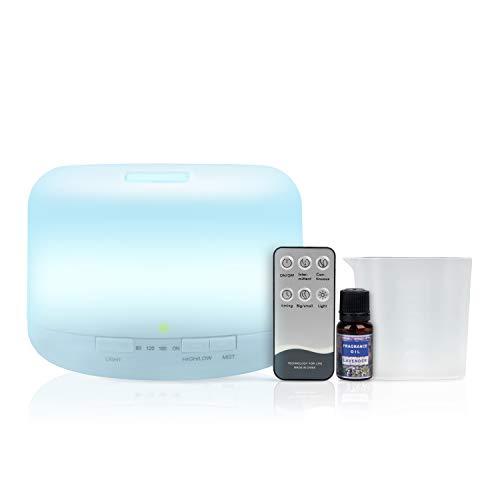 Humidificador Difusor de Aromaterapia De [[< 500ml >]] + CONTROL REMOTO + ACEITE INCLUIDO, 14 Colores...