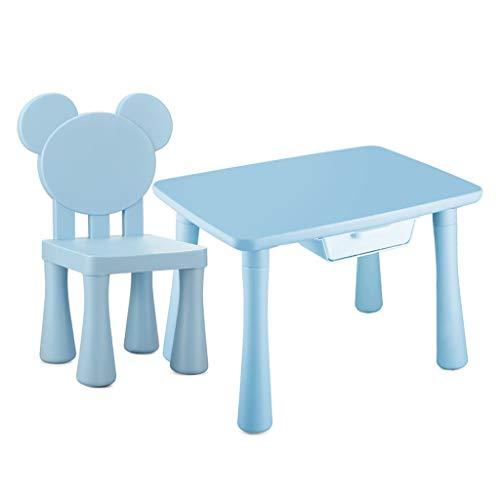 GYM Kinder Lernen Tisch Lernspieltisch kann das Kinderzimmer Cartoon Spielzeug Tisch erhöhen das Gewicht von 250 kg standhalten (Color : PINK)