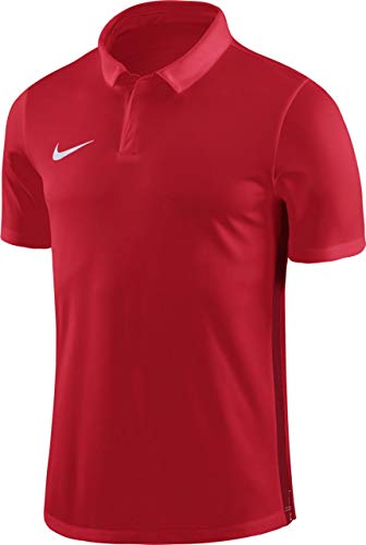 Nike Herren Dry Academy18 Football Polo Shirt Rot(UNIVERSITY RED/GYM RED/WHITE)  L - Red Golf-polo-shirt