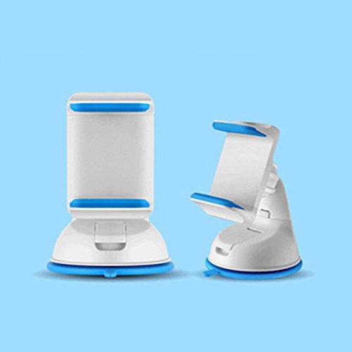 Dulaxie - Auto Sucker Telefon-Standplatz-Halter-Navigate-Kasten für iPhone 5S 6S Plus für Samsung Galaxy S5 S6-360 Sockel Windschutzscheibenhalterung [blau] (5s Samsung-galaxie-telefon-kästen)