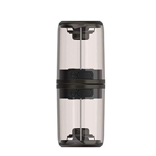 ZBHW Mini-Bluetooth-Lautsprecher Kreative magnetische Drahtlose Basskanone tragbarer Subwoofer-Kanone Transparenter Musik-Player