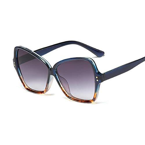 Taiyangcheng Polarisierte Sonnenbrille Übergroße Sonnenbrille Frauen Markendesigner Vintage Leopard Frame Gradient Sonnenbrille Männer Fahren weibliche Uv400,A3