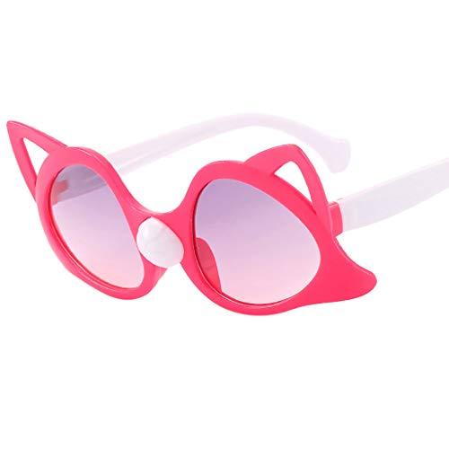 Kinder Vintage Eye Sonnenbrille Retro Eyewear Fashion Strahlenschutz Leichtes Material Feifish Komfortables Mädchen Retro-Design brillenmode UV-Schutz