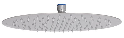 Wohnling WL2.017 Luxus Edelstahl Einbau Regendusche - Regenbrause Duschkopf rund mit Anti-Kalk Düsen Metall 30 x 30 x 0,2 cm, silber