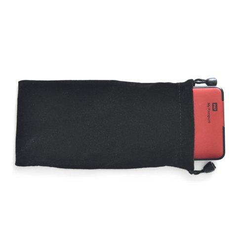iProtect Schutzhülle für externe Geräte wie Festplatte u Power Bank Akku Tasche schwarz 10cm x 20cm