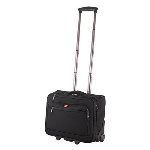 Von Cronshagen Pilotenkoffer mit Rollen, Aktentrolley Business Tasche mit Laptop-Fach bis 16 Zoll, hochwertige Aktentasche robust und wasserabweisend