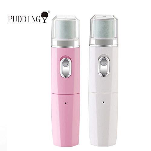 Puddingy® elettrico foot grinding machine esfoliante automatico pedicure portatile ricarica usb strumento per unghie lucidatura manicure lucidatura,pink