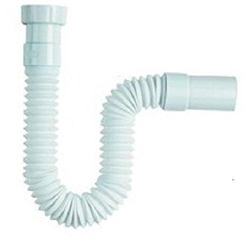 takestop® TUBO DI SCARICO 1 1/2 ACQUA LUNGO PER SIFONE FLESSIBILE PVC LAVABO LAVANDINO BIDET - Scarico Acqua Tubo