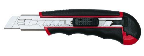 Wedo 78418 Cutter Autoload (18mm, inklusiv 6 Klingen im Magazin) rot/schwarz (Magazin Geladene)