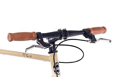 CHRISSON 28 Zoll Fixie Singlespeed Retro Fahrrad FG Flat 1.0 Ivory Coast - Urban Old School Fixed Gear Bike für Damen und Herren
