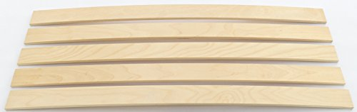 10er Paket Federholzleisten Latten | Sofa Futon Bett | Stärke 8mm | Breite: 55mm | Wunschlänge